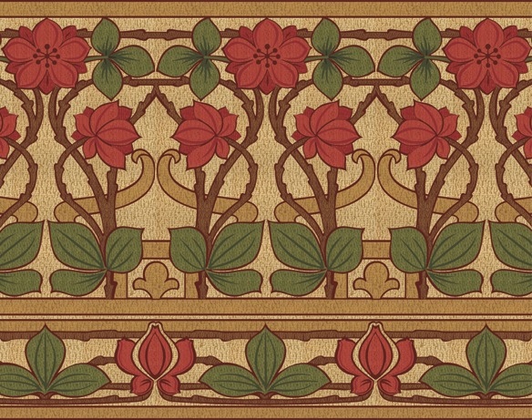 english arts and crafts wallpaper border