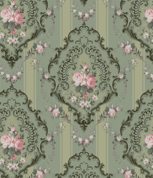 Rococo Rose wall fill & frieze
