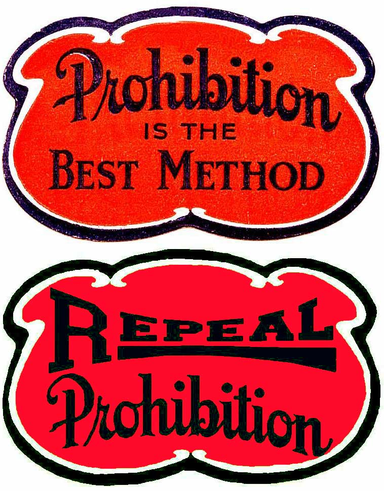Prohibition Stickers For Antique Autos