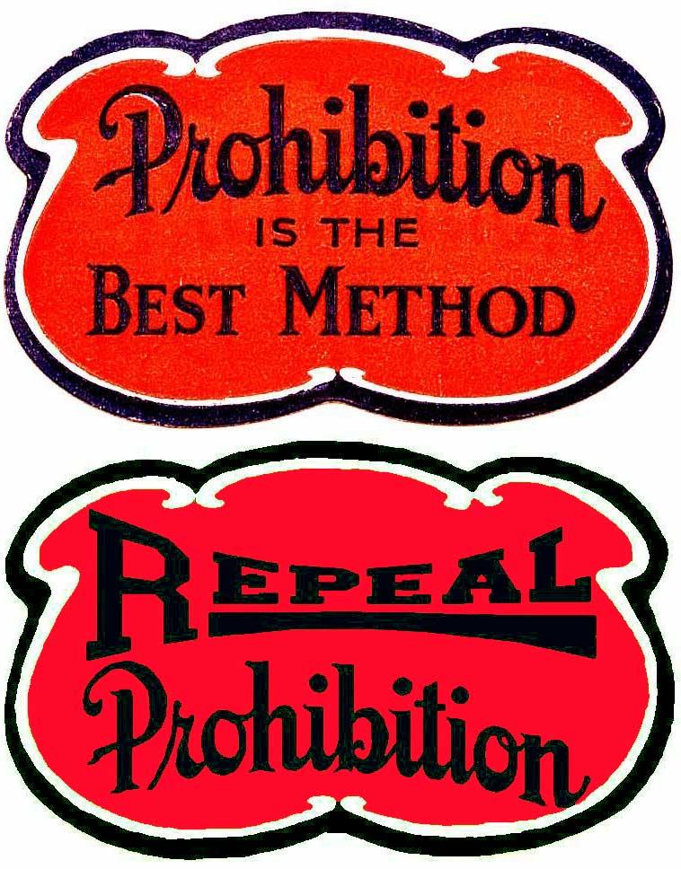 Prohibition Stickers For Antique Autos